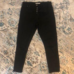 Levi's Black Wedgie Skinny Jeans